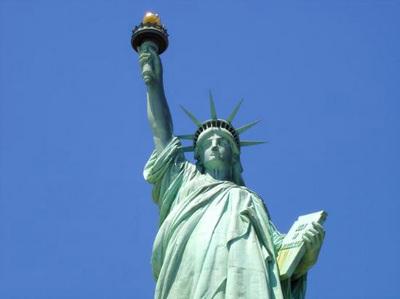 La statua della libertà. Uno dei più famosi simboli di New York