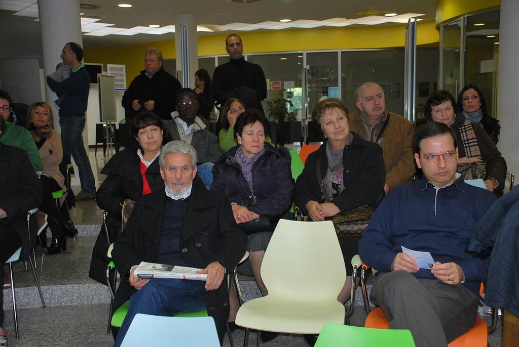Alcuni dei presenti alla giornata della partecipazione, 19 novembre