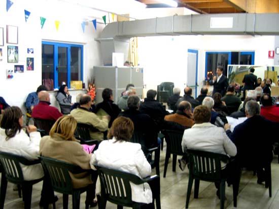 Bilancio partecipativo 2011 presso la sala del Bocciodromo a Grottammare