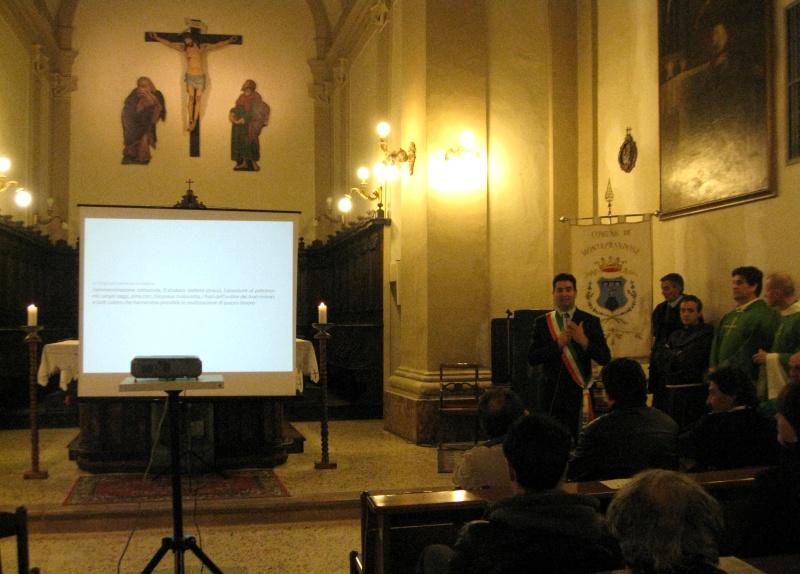 Il sindaco Stefano Stracci durante la presentazione dei lavori