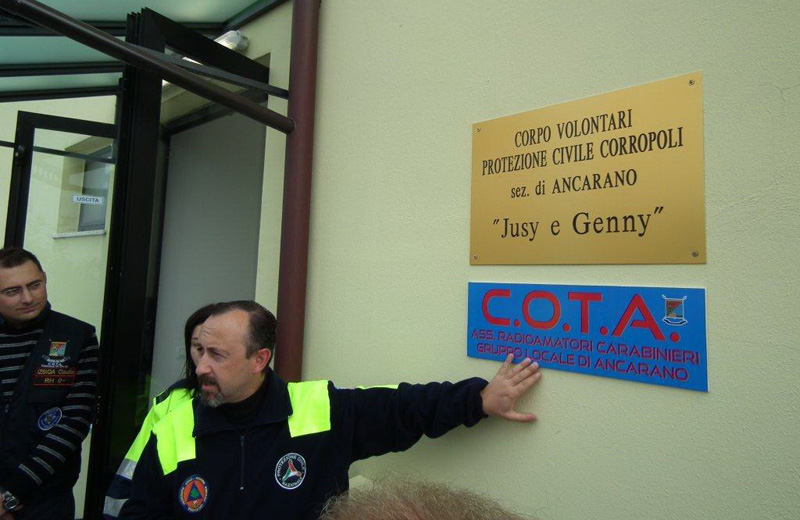 La sede della Protezione Civile intitolata alle sorelle Antonini