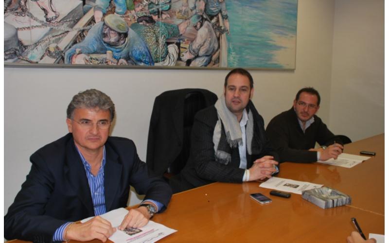 Da sinistra Claudio Salvo, Fabio Urbinati e Pierfrancesco Morganti