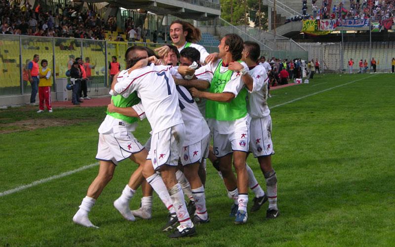 Foggia-Samb 0-1, esultanza (ph. Danilo Di Salvatore)