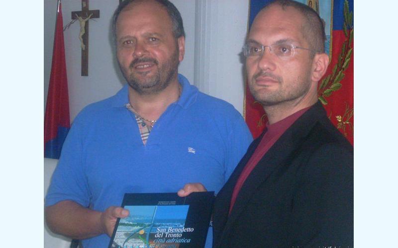 Gaspari e Castelli in una foto dell'agosto 2009