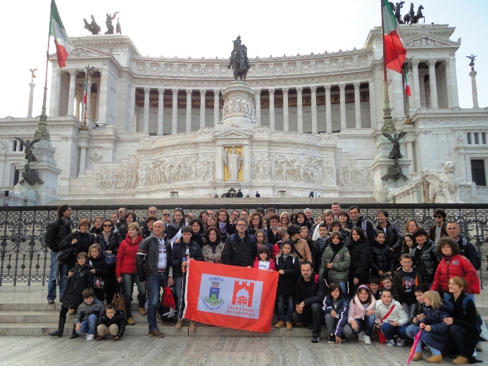 Gli ottanta Montefiorani a Roma per i 150 dell'Unità d'Italia