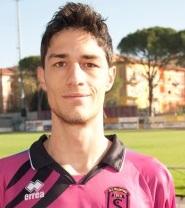 Il bomber del Tolentino calcio Federico Melchiorri