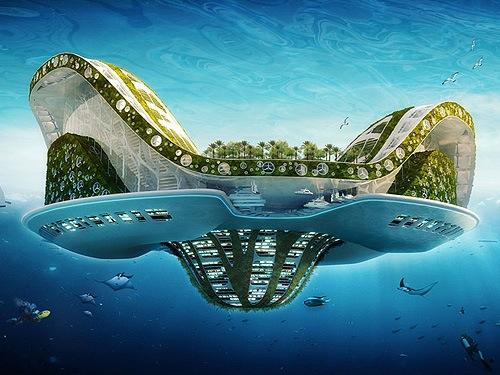 Progetti futuristici di città ecosostenibili - Fonte: google