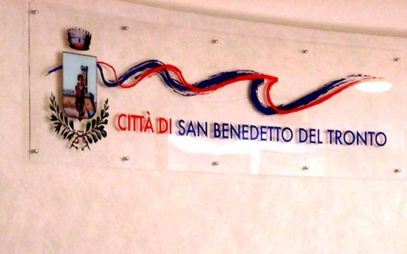 La sala consiliare del Comune di San Benedetto
