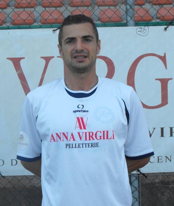 L'attaccante del Grottammare calcio Dario-Ludovisi, giunto al 5° centro stagionale.