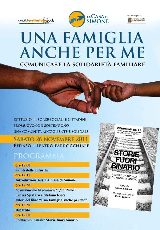 Locandina programma La casa di Simone 2011