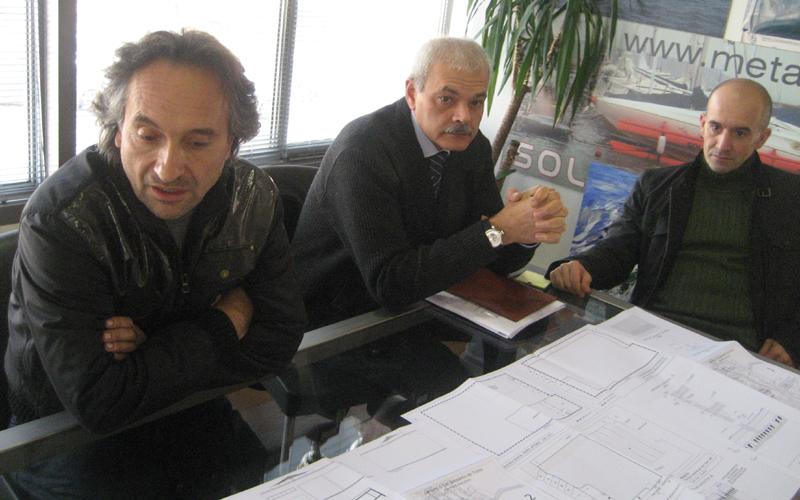 Marco Pennesi, Luigi Orlandi e Walter Del Gatto illustrano il nuovo progetto di Metamarine