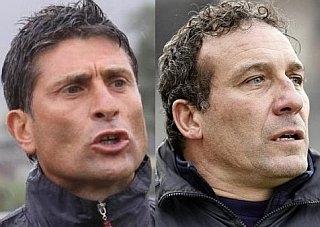 Nella foto tratta dal sito Quelli che.net Favo (a sinistra) e Fenucci (a destra)