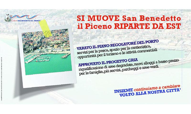 Un manifesto del Comune di San Benedetto