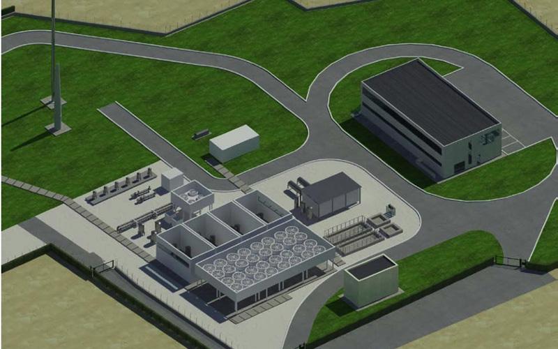 Un rendering della centrale di stoccaggio Gas Plus