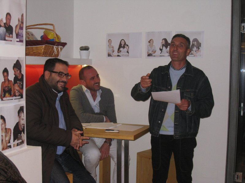 Da sinistra: Gianluca Carrabs, Pietro Canducci, Enzo Malavolta