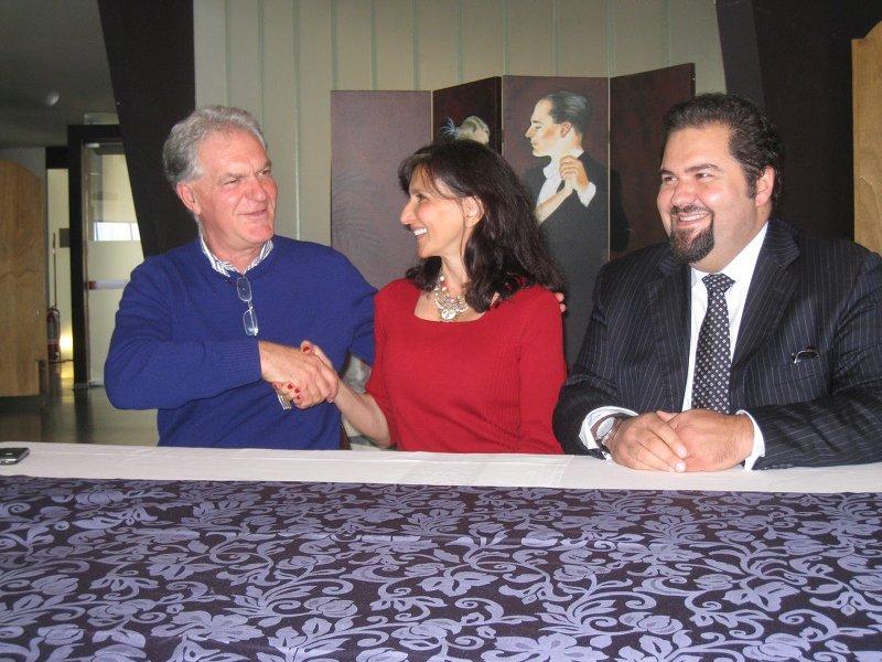 Da sinistra: Piero Celani, Francine Segan, Raffaele Rossi