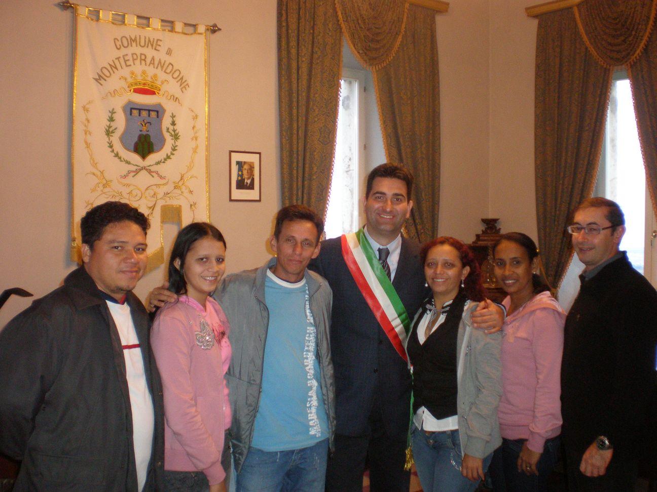 Delegazione Brasiliana col sindaco Stracci