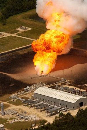 Esplosione di gas nel 2004 a Moss Bluff in Texas, Usa