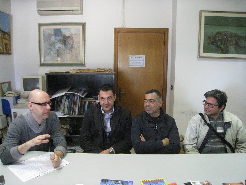 Da sinistra: Andrea Perugini, Emidio Del Zompo, Massimiliano Spina, Massimo Pompei