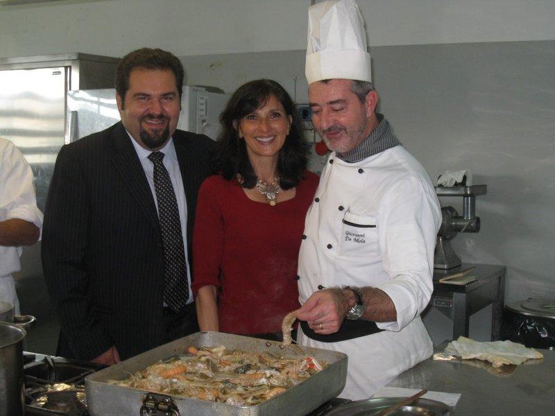 Da sinistra: Raffaele Rossi, Francine Segan, Giovanni De Mola