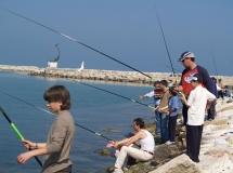 Uno scatto durante uno dei corsi di pesc organizzati a San Benedetto