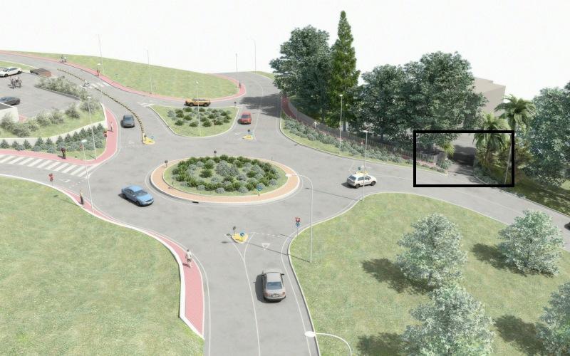 Rotatoria Monteprandone: riproduzione del progetto in 3d