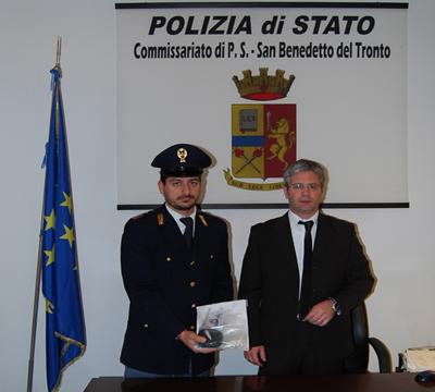 Il dirigente del Commissariato Filippo Stragapede