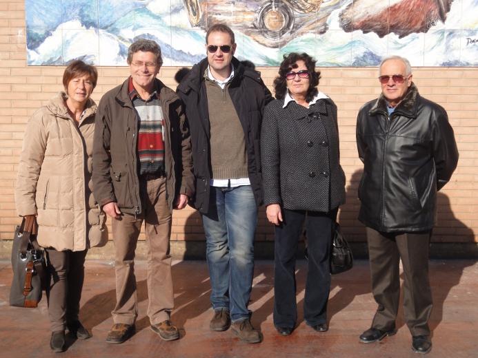 Da sinistra, Renata Brancadori, Francesco Pompei, Fabio Urbinati, Benedetta Trevisani e Franco Civardi