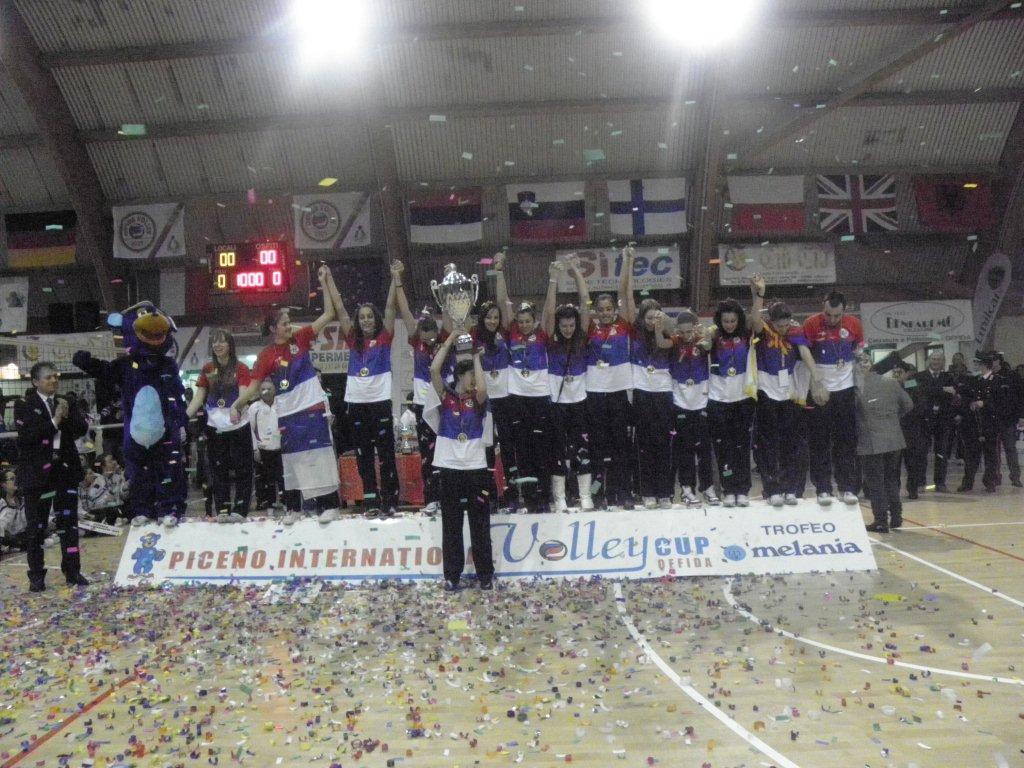 Una momento della manifestazione Piceno International Volley Cup Trofeo Melania nel 2010