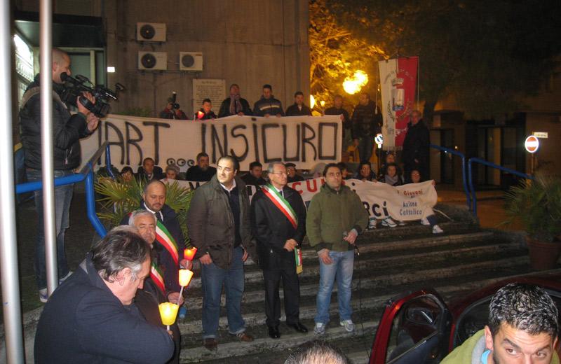 Fiaccolata a Martinsicuro per il diritto alla sicurezza