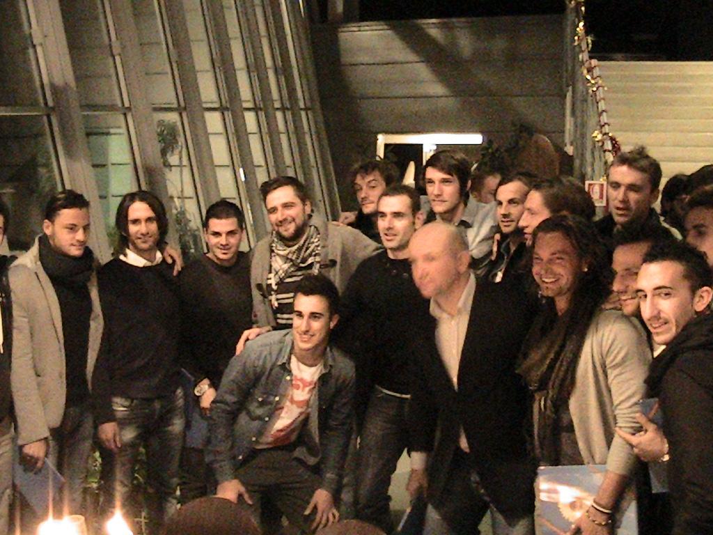 Il gruppo Samb alla festa di fine anno all'Alberghiero