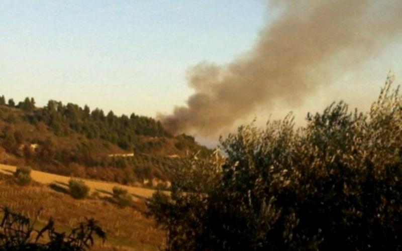 Incendio tra Grottammare e Ripatransone ore 16 (foto di Annalisa Cameli)