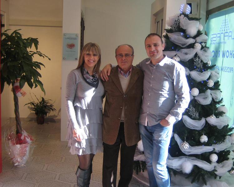 I soci di Laf Infissi: Umberto, Paride e Roberta Bisirri