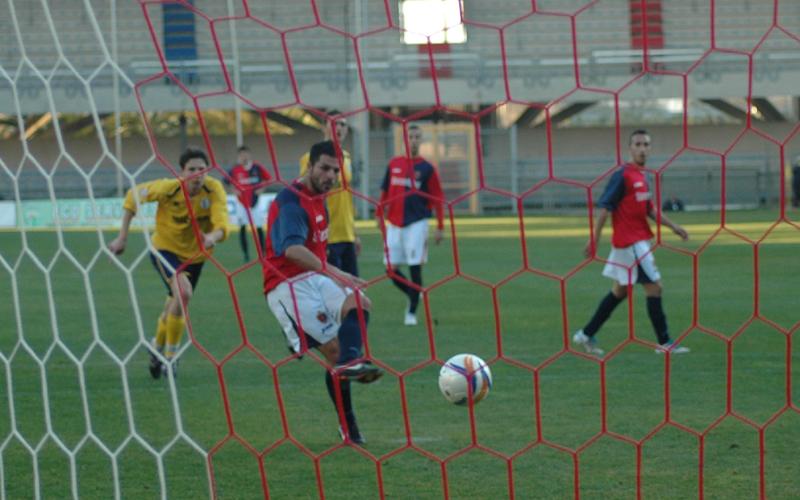 Samb-Miglianico, il gol di Di Vicino (ph. Giammusso)