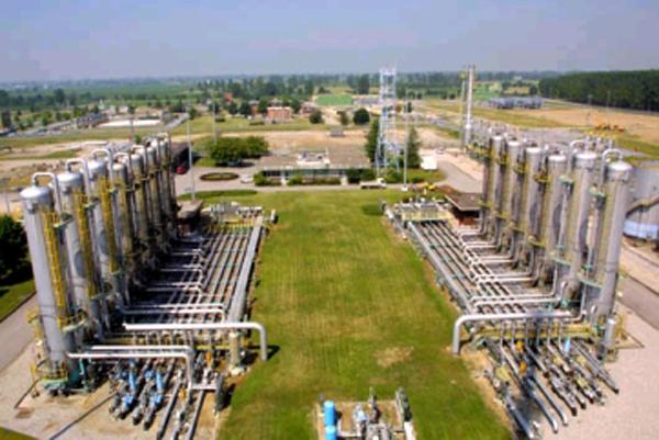 Una centrale di stoccaggio gas della Stogit