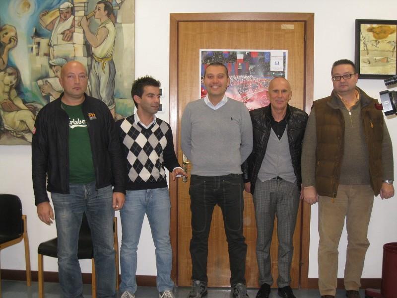 Da sinistra: Emidio Di Gaspare, Alessandro Amadio, Marco Curzi, Mario Palanca, Sandro Benigni