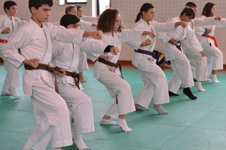 I ragazzi della scuola di  karate - Cupra Marittima