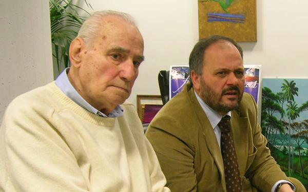 Albano Bugari con il sindaco Gaspari