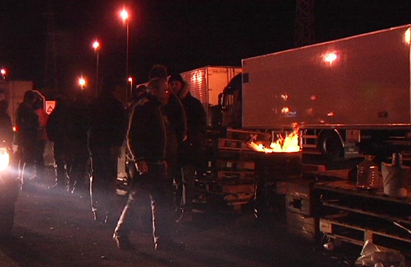 Blocco dei Tir, casello A14 San Benedetto 25 gennaio 7
