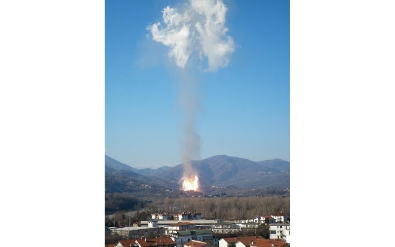 Lunigiana, l'esplosione del metanodotto