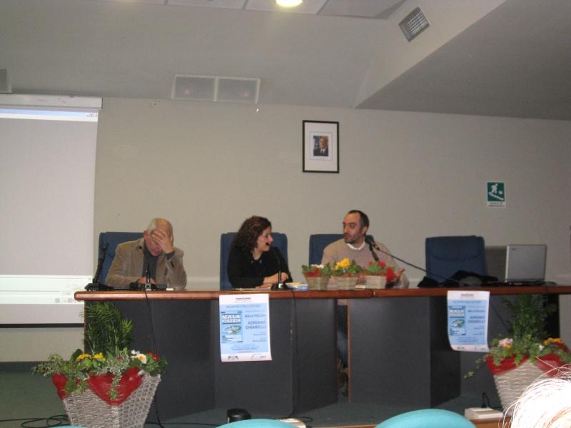Da sinistra Mimmo Minuto, Eleonora Paci e Adriano Chiarelli
