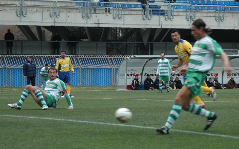 Marini segna il gol del vantaggio al Trivento (ph. Giammusso)