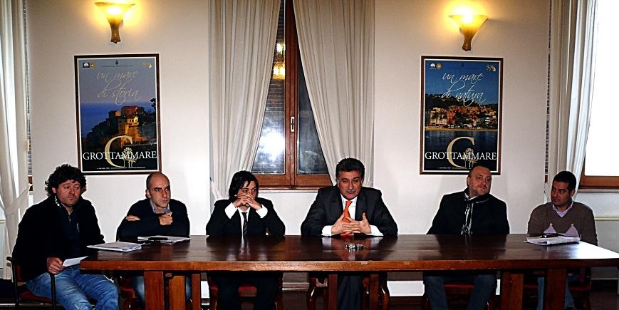 Da sinistra: Marcello Capriotti, Daniele Mariani, Enrico Piergallini, Luigi Merli, Stefano Troli, Alessando Rocchi
