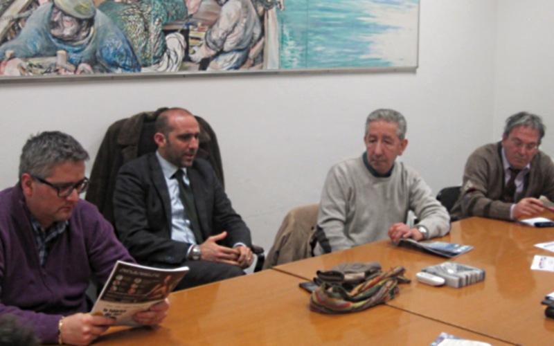 Raccolta Spinta: da sinistra Leonardo Collina, Paolo Canducci, Palmiro Merli, Federico Olivieri