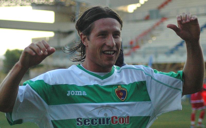 Samb-Ancona 1-0, la felicità di Marini ph. Giammusso