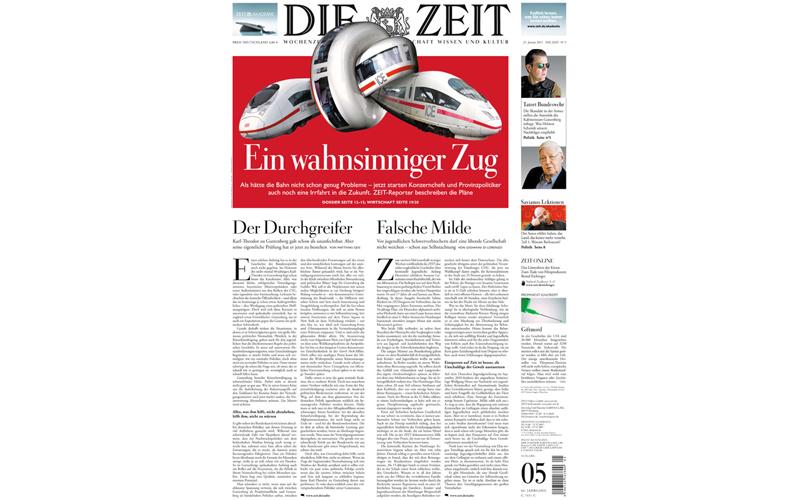 Una copertina del Die Zeit