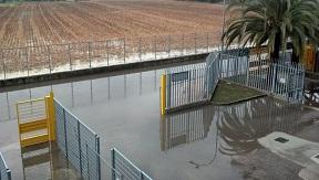 21 febbraio 2012, stadio Riviera delle Palme allagato