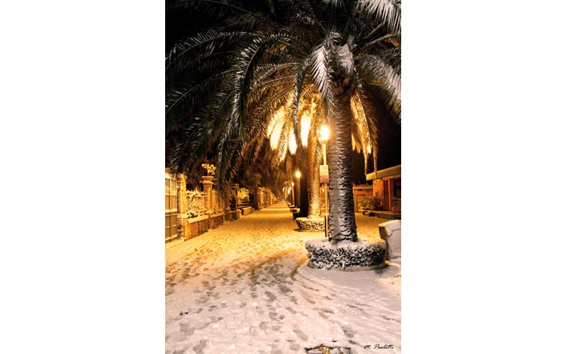 3 febbraio, neve a Grottammare, Piazza Kursaal, Maurizio Paoletti 3