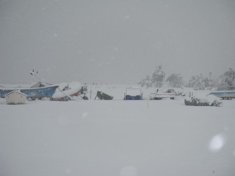 3 febbraio, neve a Martinsicuro 2