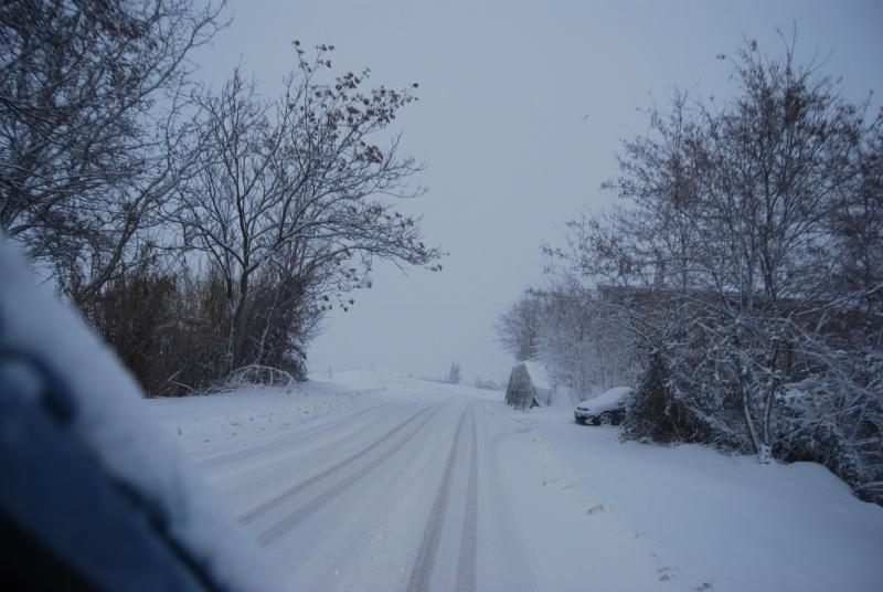 Neve ad Acquaviva Picena, strada Valle del Forno, 5 febbraio (Erika Corradetti)